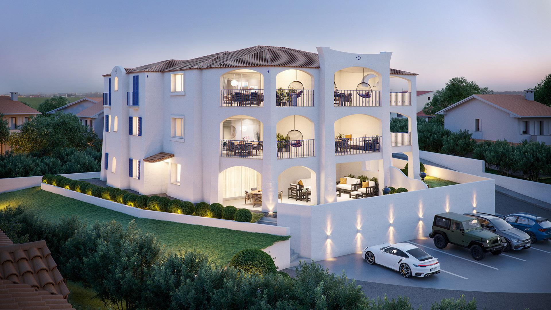 Edil Costa Sarda Casa Maris donigala sul mare appartamenti render esterno2